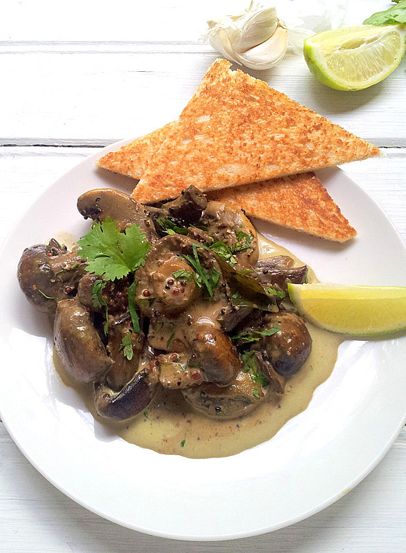 Creamed Curried Mushrooms